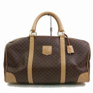 Auth Celine Macadam Boston Bag Deep #938O77
